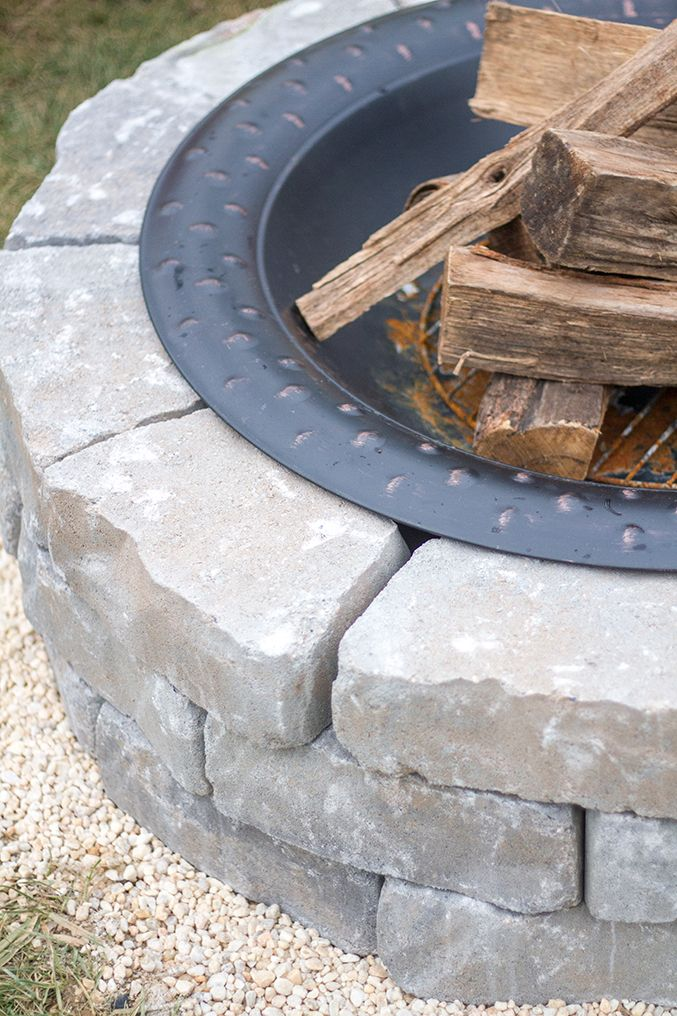 how to make a diy built in flagstone fire pit flagstone and upcycle