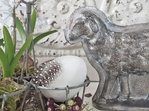 Kleines Schwedenhaus details zu schönes nostalgisches lamm osterdeko shabby chic kleines