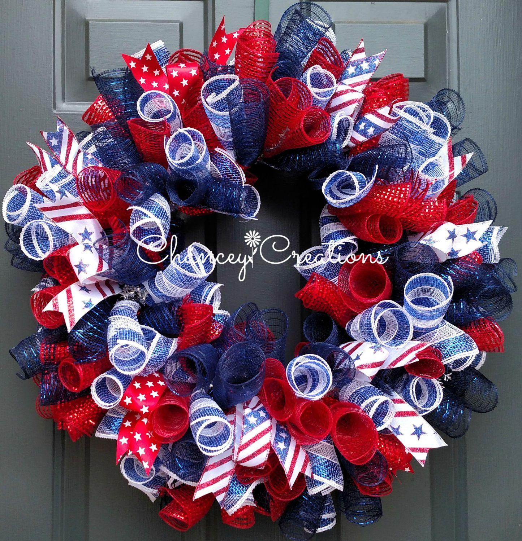4th of July Wreath, Fourth of July Wreath, Summer Wreath, Fourth ...