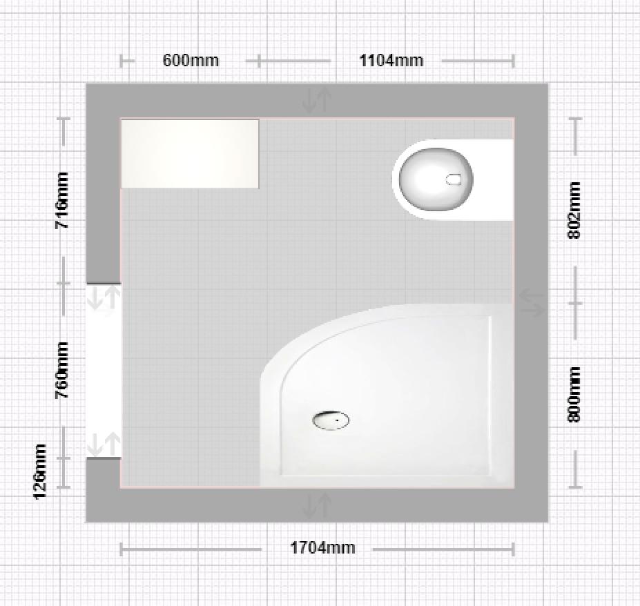Shower room plan Room planning, Bathroom mirror, Shower room