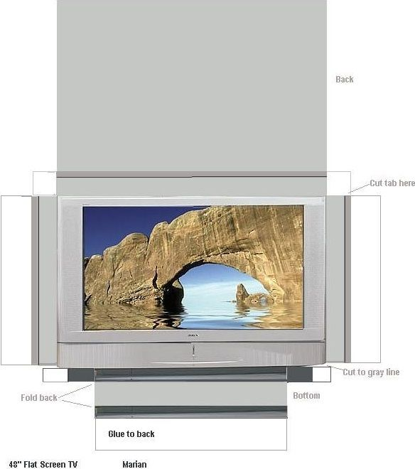 free printable flat screen television