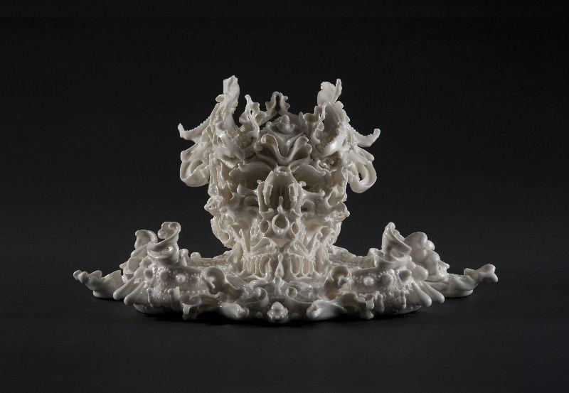 More images of porcelain skull sculptures from Japanese artist Katsuyo Aoki