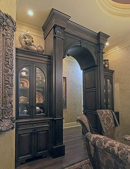 Dining Room Built Ins / China Cabinets, But I Wouldn't Do