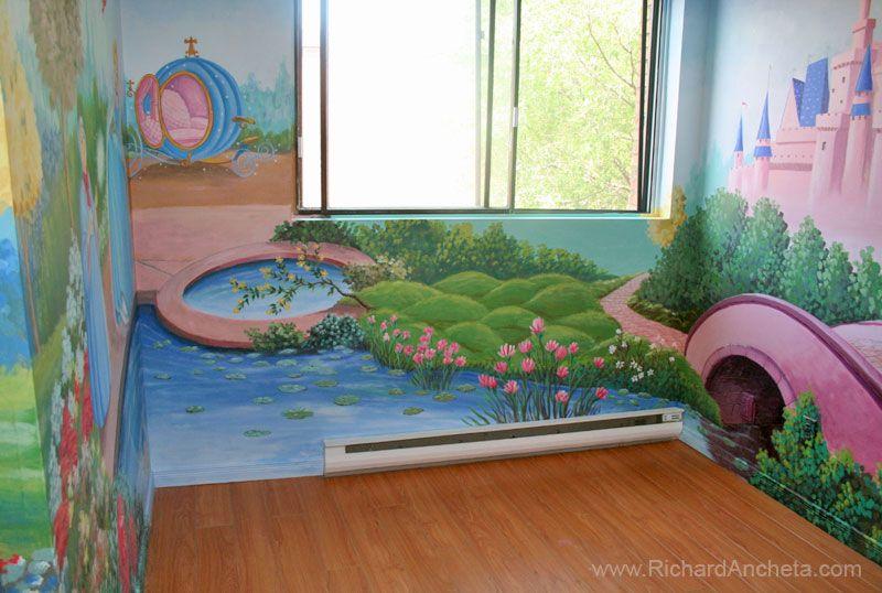 Children Mural Painting Disney Princess Castle Montreal (