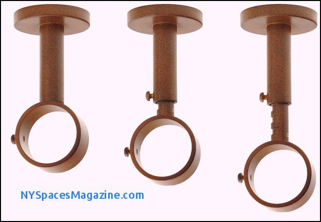 ceiling mounted curtain rod hardware