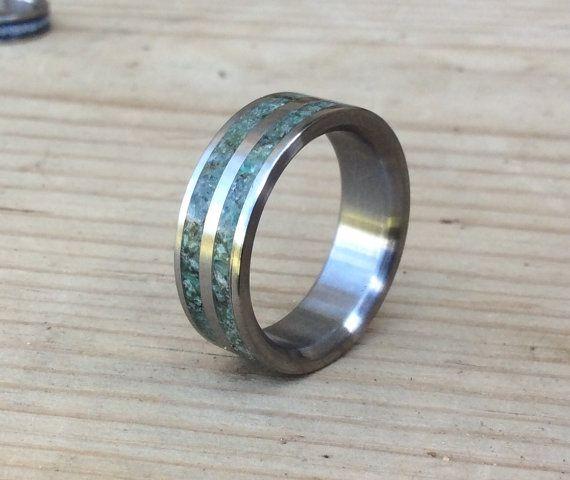 Titanium Ring Moss Agate Ring Wedding Ring Mens Ring Etsy Rings For Men Agate Wedding Ring Mens Wedding Rings