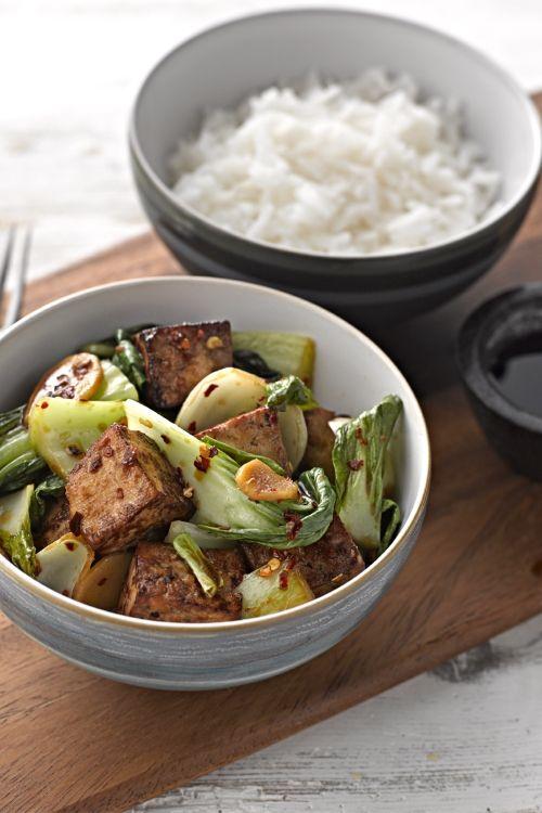 Marinated Ginger Tofu with Pak Choi | Recipes | Veggie