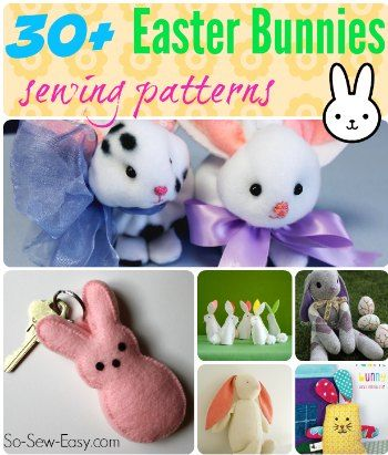 Easter bunnies to sew easter softies and bunny easter bunnies to sew negle Images