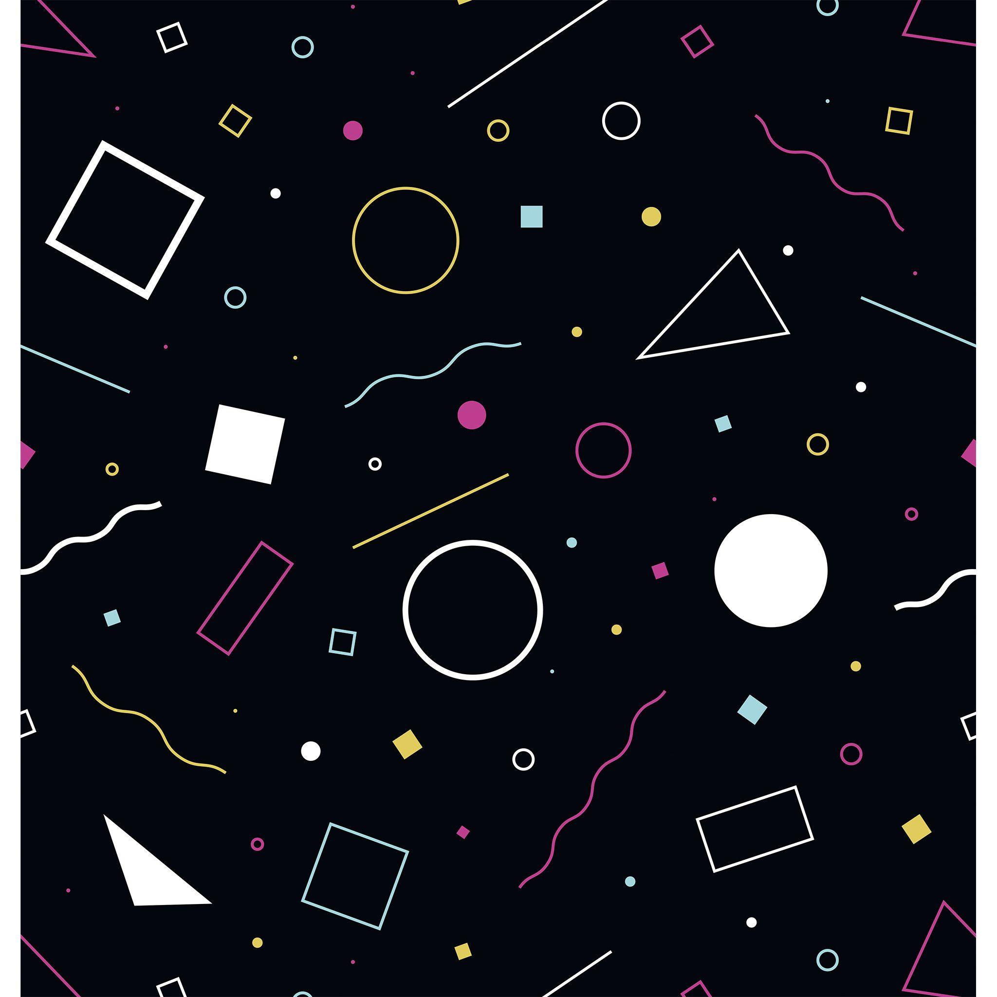 80s confetti photo backdrop wallpaper 2 graphic patterns
