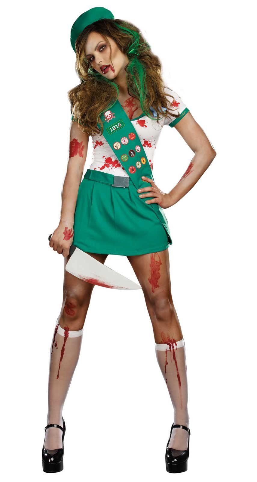 Crazy Ghoul Scout Adult Costume | Costumes, Halloween costumes and ...