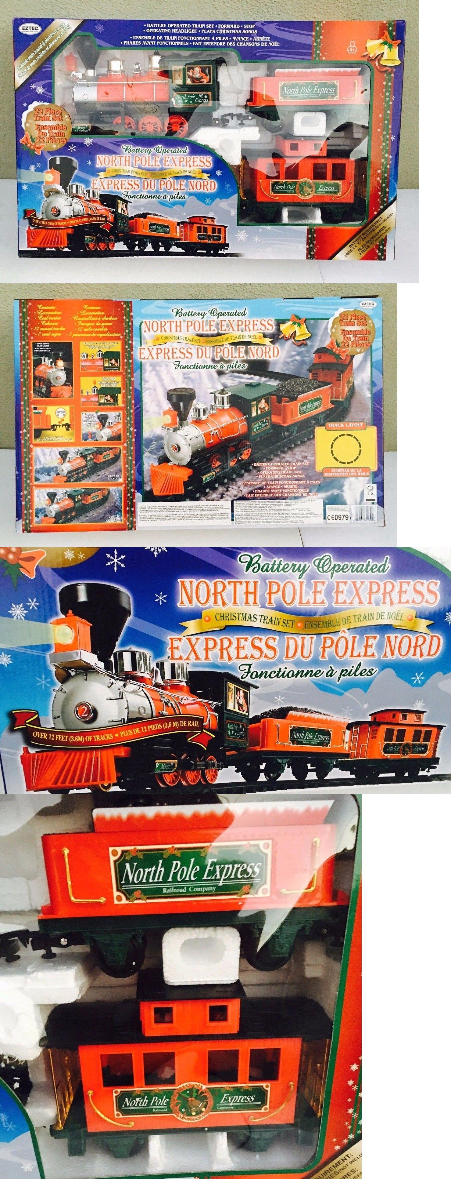 NORTH POLE EXPRESS EZTEC Christmas Train Set 22 PIECE BATTERY ...