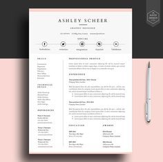 professional resume template resume template for word cv template with free cover letter cv design lebenslauf rantra - Free Word Resume Template