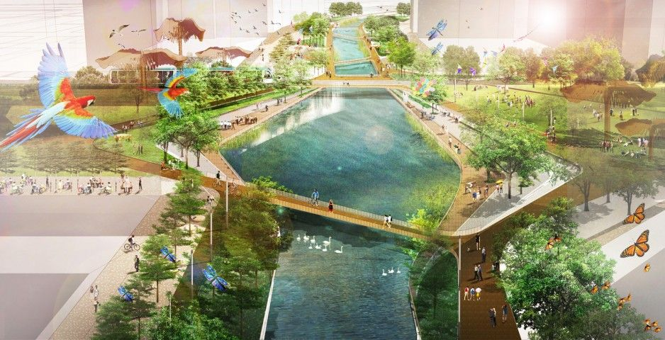 Kai tak city hong kong winning competition entry living for Landscape design contest
