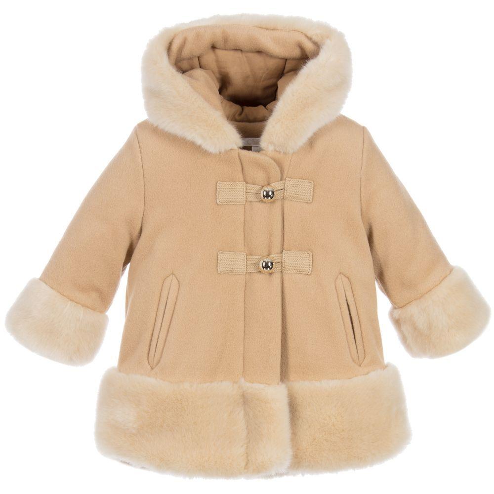 5be98284f Chloé Girls Beige Wool Blend Coat at Childrensalon.com