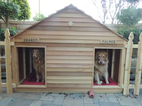 Goliath Dog House Custom Cedar Dog House For 200 Lb Dogs