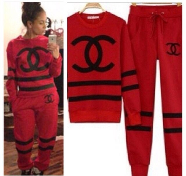 Black Chanel Sweat Suit Go Back Gallery For Coco Chanel