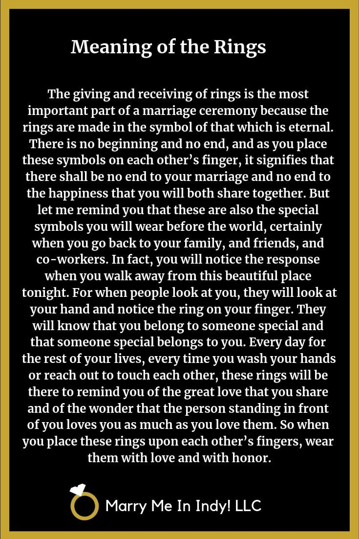 Wedding Ring Meanings for your Wedding Ceremony Script