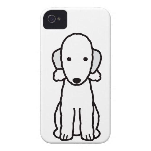 Bedlington Terrier Dog Cartoon iPhone 4 Cover