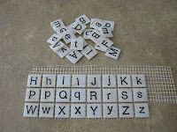 Super cool!! Use 1 inch glass mosaic tiles!!: DIY Letter and Number Tiles