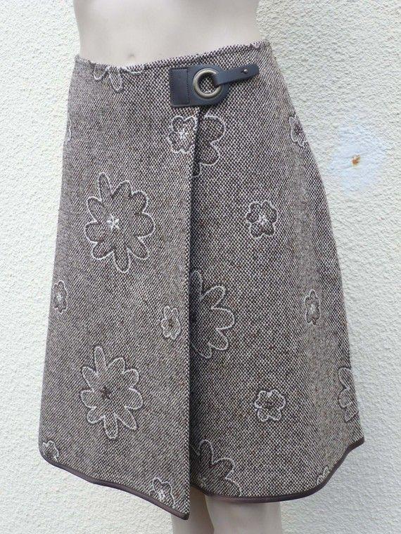 jupe portefeuille jc0619 tweed rebrode marron tuto pinterest jupe portefeuille tweed et. Black Bedroom Furniture Sets. Home Design Ideas