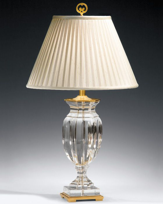 Crystal Table Lamp Solid Crystal Table Lamp With Solid Brass Trim Crystal Table Lamps Crystal Lamp Table Lamp