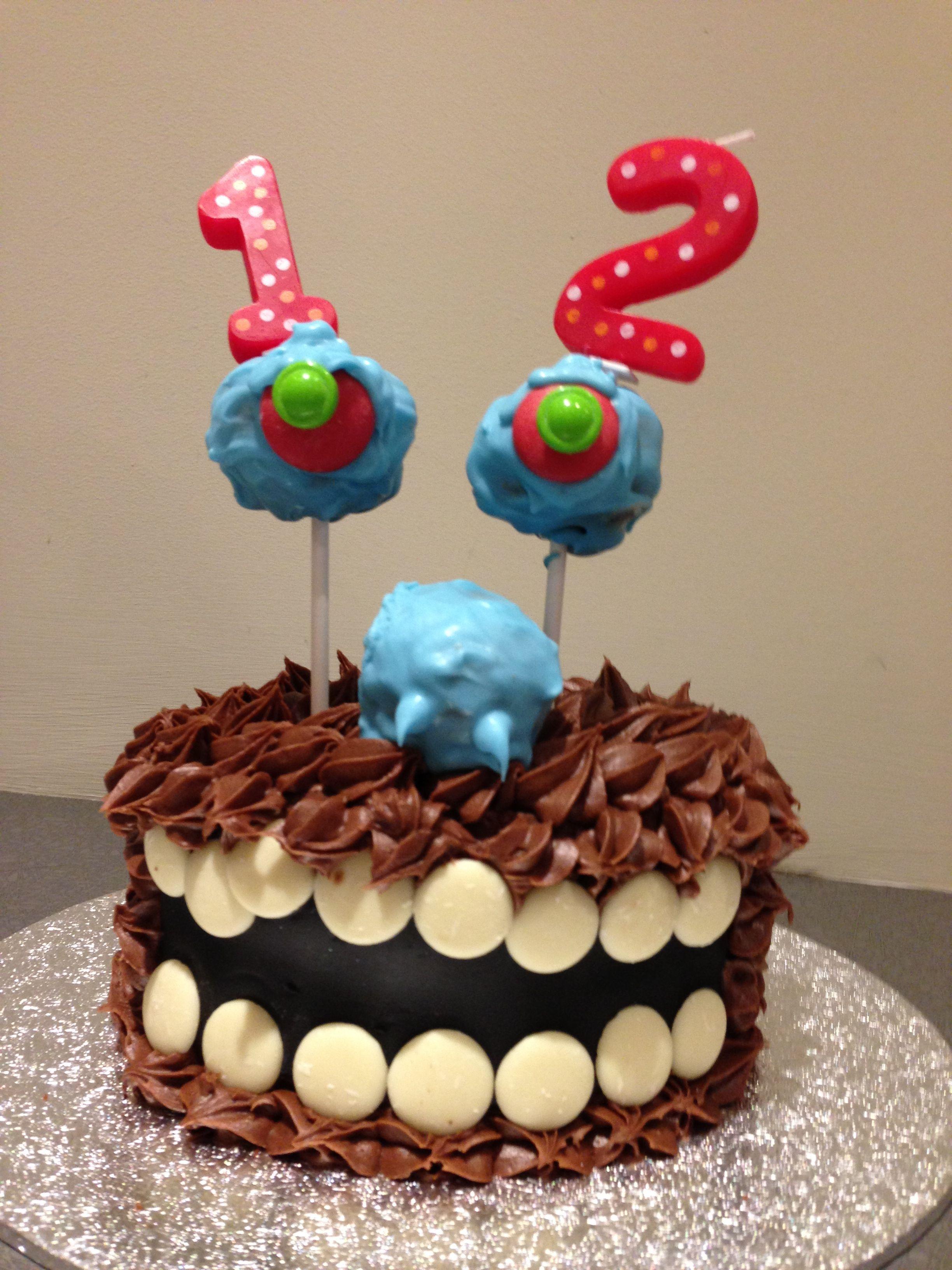 Outstanding 12Th Birthday Monster Cake Boy Birthday Parties 12Th Birthday Birthday Cards Printable Trancafe Filternl
