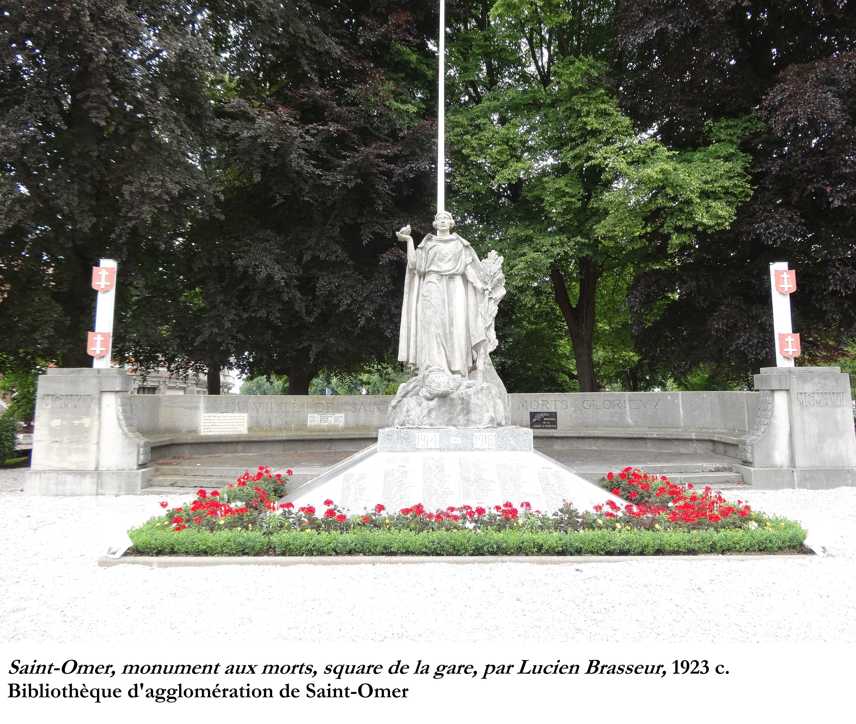 """""""  France victorieuse""""  : Monuments aux enfants de Saint-Omer, morts pour la France."""