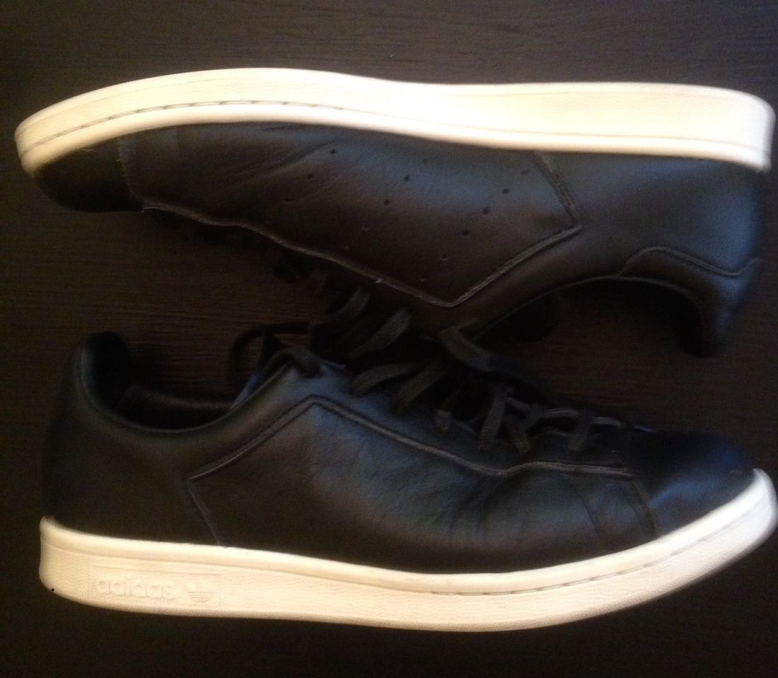 last chance to cop - these shoes are about to be in the rotation - don't  sleep Barneys New York X Adidas Stan Smith - Black Size 9 Worn a few times,  still.