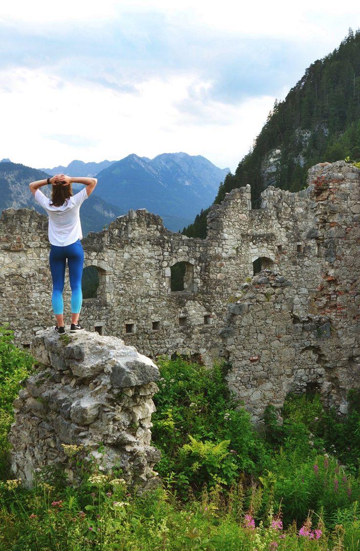 Explore the Ehrenberg Castle ruins in Reutte, Austria.
