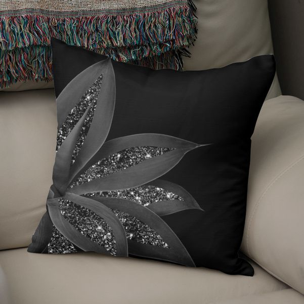«Agave Finesse Glitter Glam #7 #tropical #decor #art» Throw Pillow by Anita's & Bella's Art - Numbered Edition from $27 | Curioos