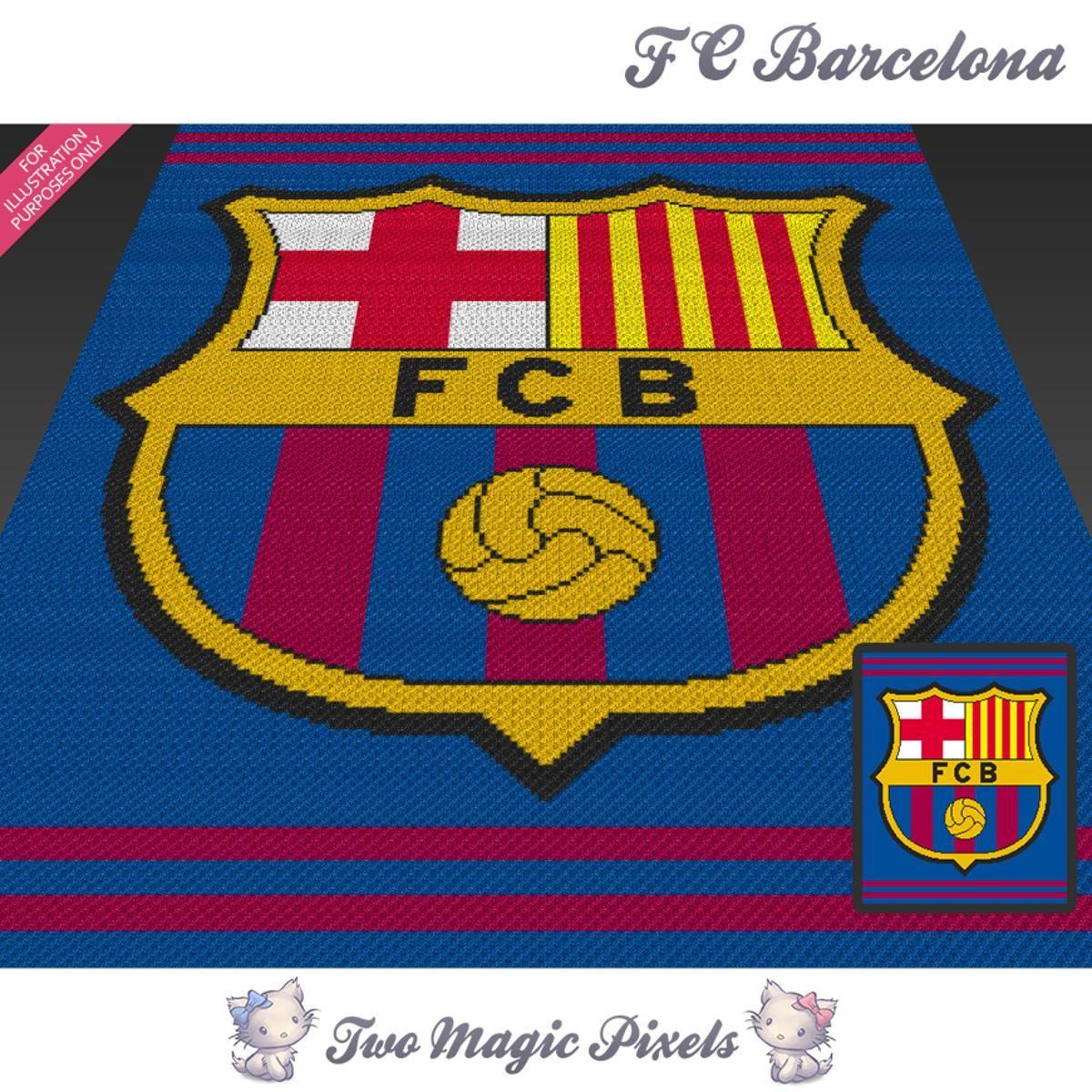 FC Barcelona Crochet Graph