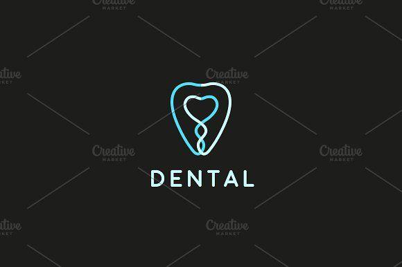 Tooth dental clinic logotype by Bureau on @creativemarket