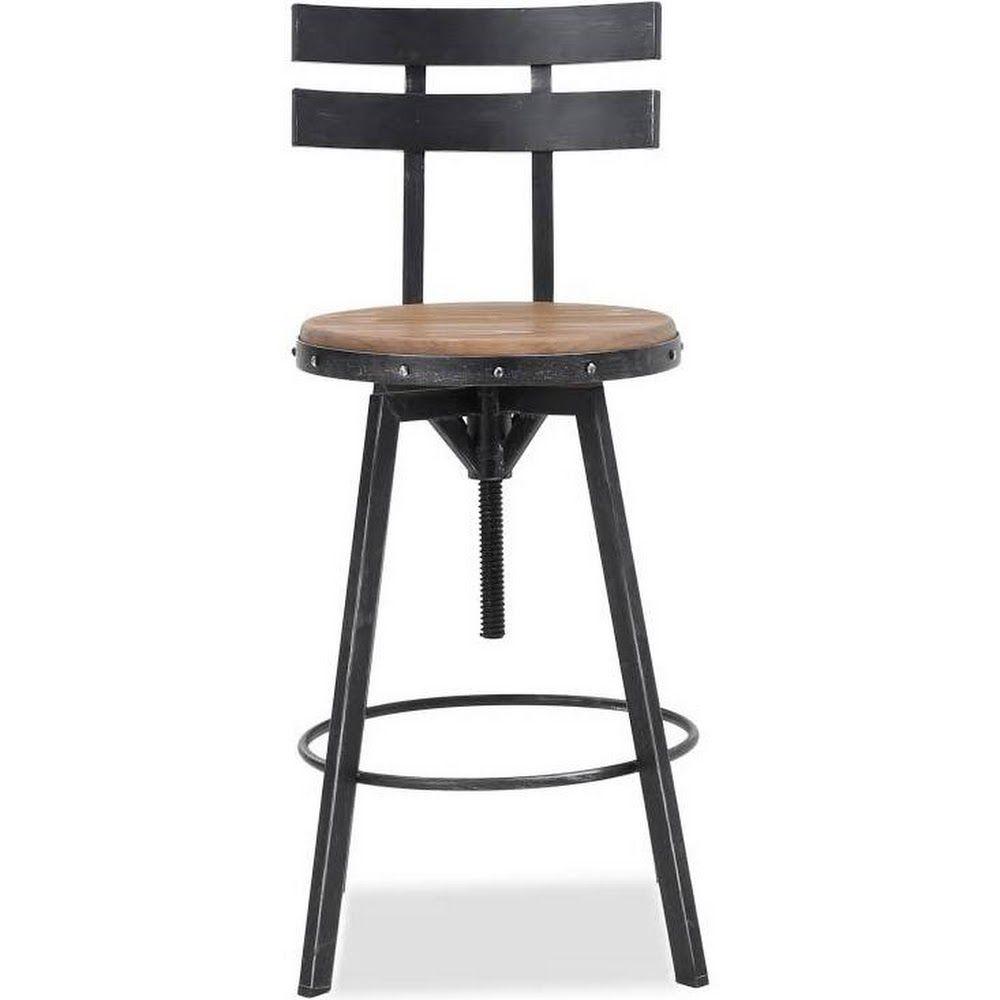 Awe Inspiring Google Express Jutte 39 Inch Adjustable Backed Iron Machost Co Dining Chair Design Ideas Machostcouk