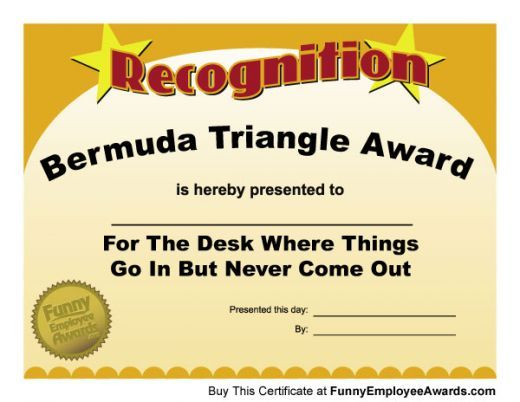 Funny Teacher Awards  Certificate Sayings