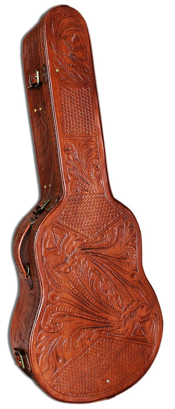 Hand Tooled Leather Guitar Case Beautiful My Dream Guitar Case Guitar Bag Guitar Case Leather Case