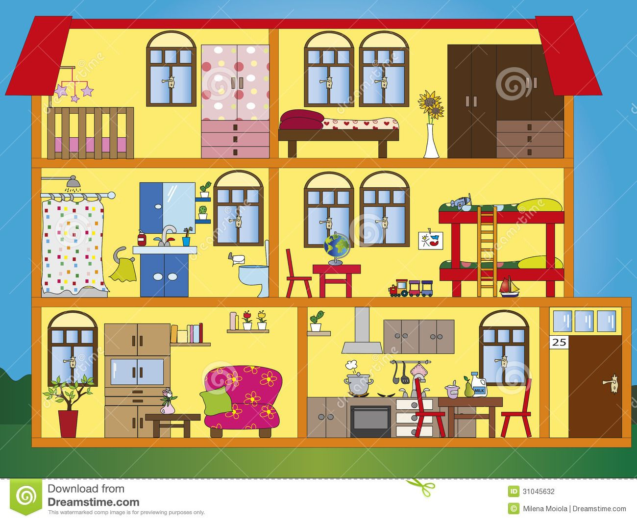 Interior House Clipart