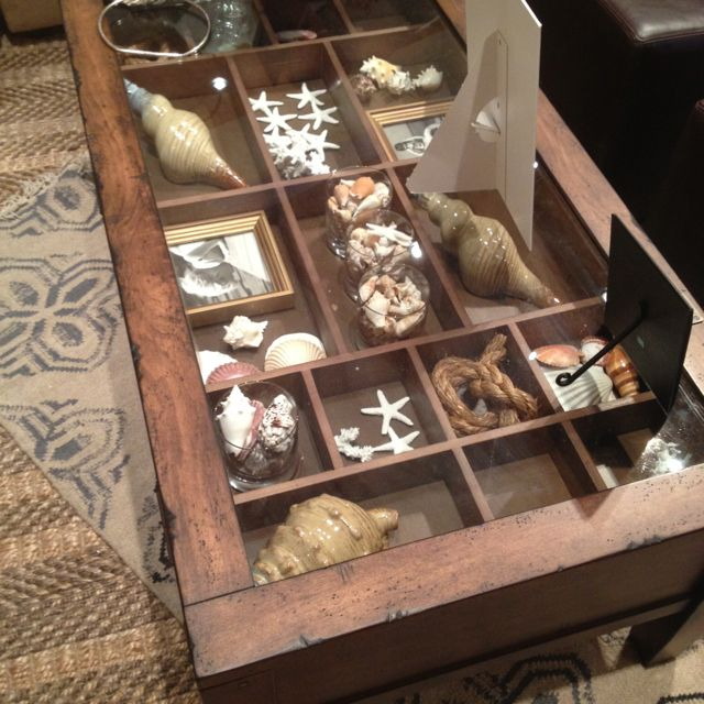 Love This Coffee Table From Pottery Barn In 2019 Shadow Box