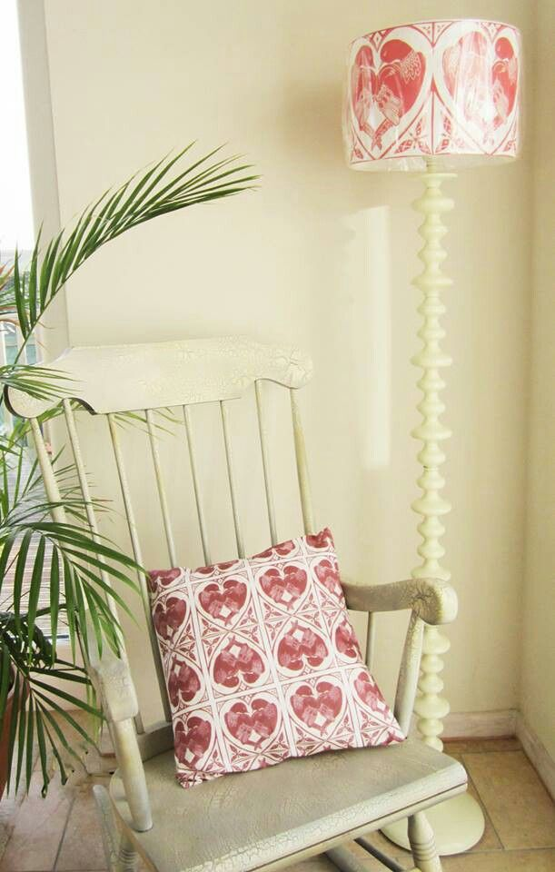 lovely rocking chair, cushion and lamp. | home: individual pieces
