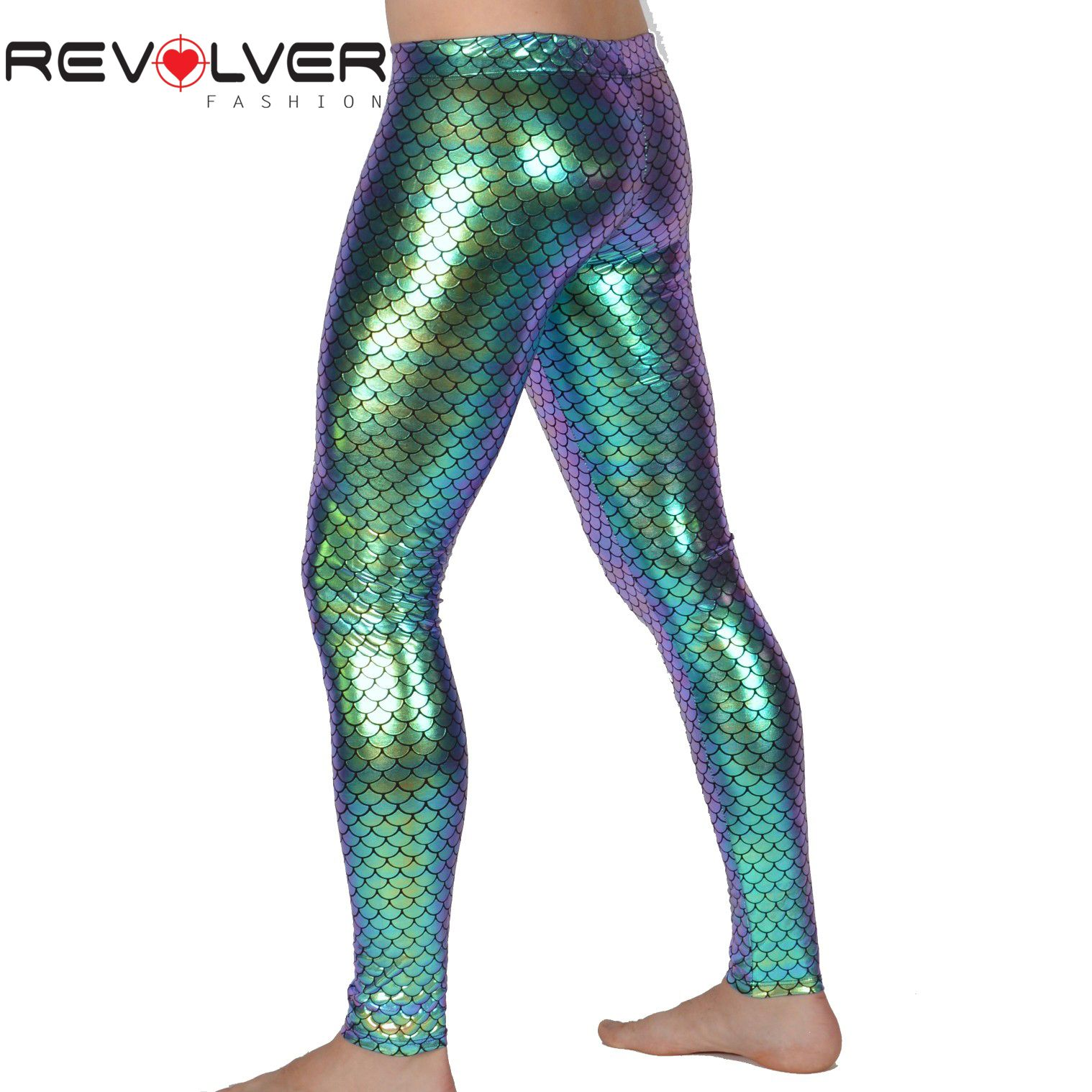 8c8a0fb85e Green Holograph Merman Leggings. #holographic #meggings #mensleggings  #burningman #musicfestival #mermen #mermaid #fishprint #revolverfashion ...