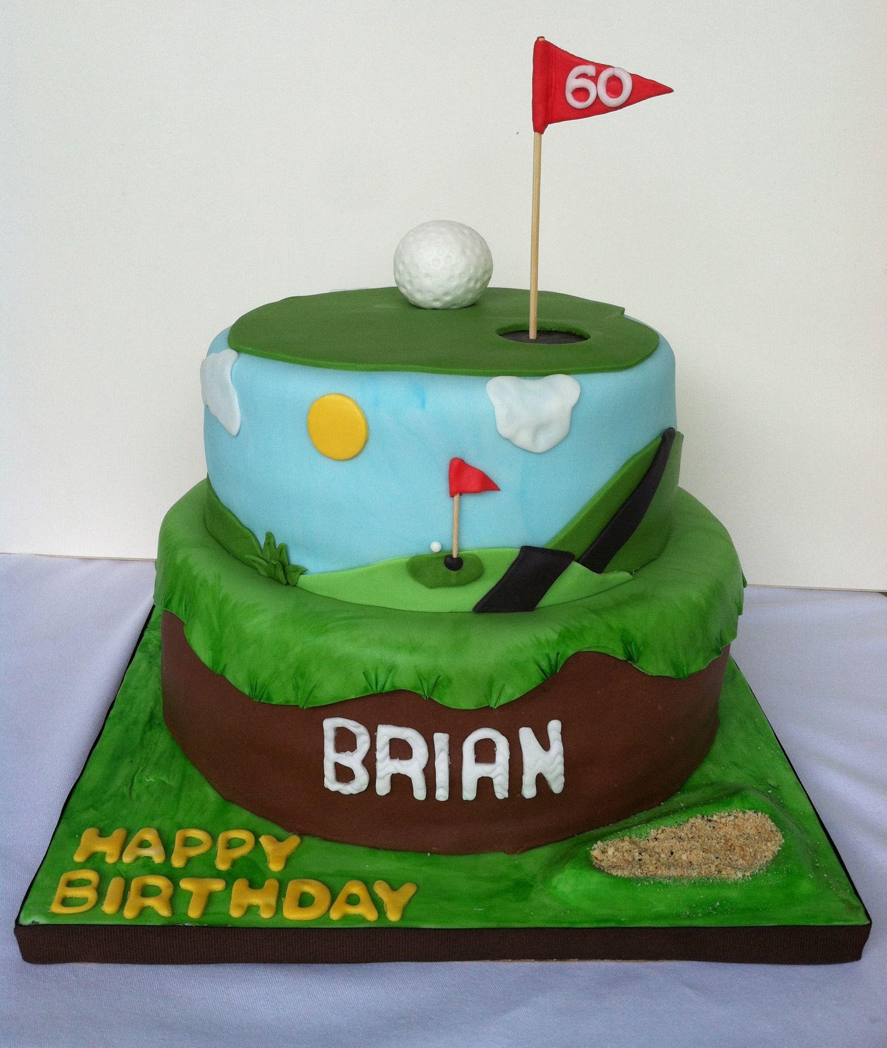 Happy 60th Birthday~ Golf Theme Chocolate Cake
