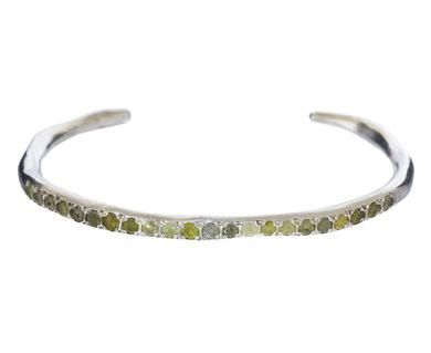 862df85f7 Rosa Maria - Silver and Icy Gray and Yellow Diamond Cuff Bracelet in  Designers Rosa Maria Bracelets at TWISTonline