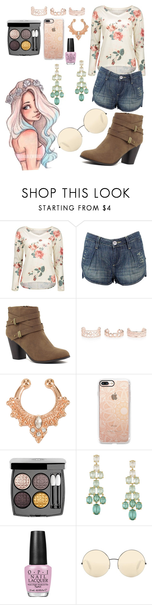 """""""Untitled #299"""" by kathrynrose42 ❤ liked on Polyvore featuring Babakul, New Look, Hot Topic, Casetify, Chanel, BCBGMAXAZRIA, OPI and Victoria Beckham"""