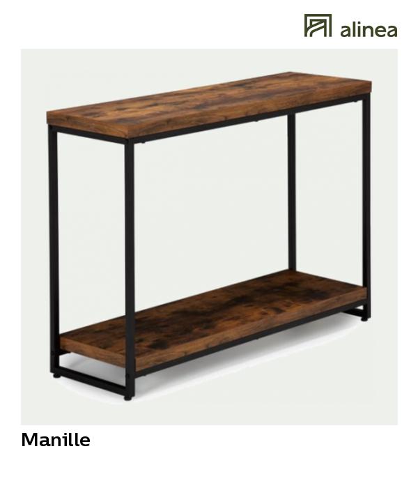 730c66782f6e10 alinea   manille console style industriel effet bois et acier meubles salon  consoles -  Alinea