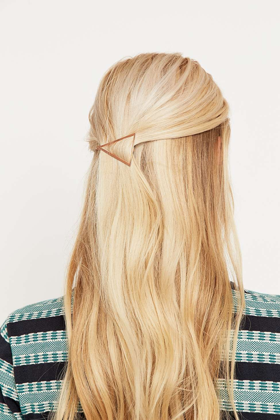 Clean Rose Gold Triangle Hair Clip Coiffures cool