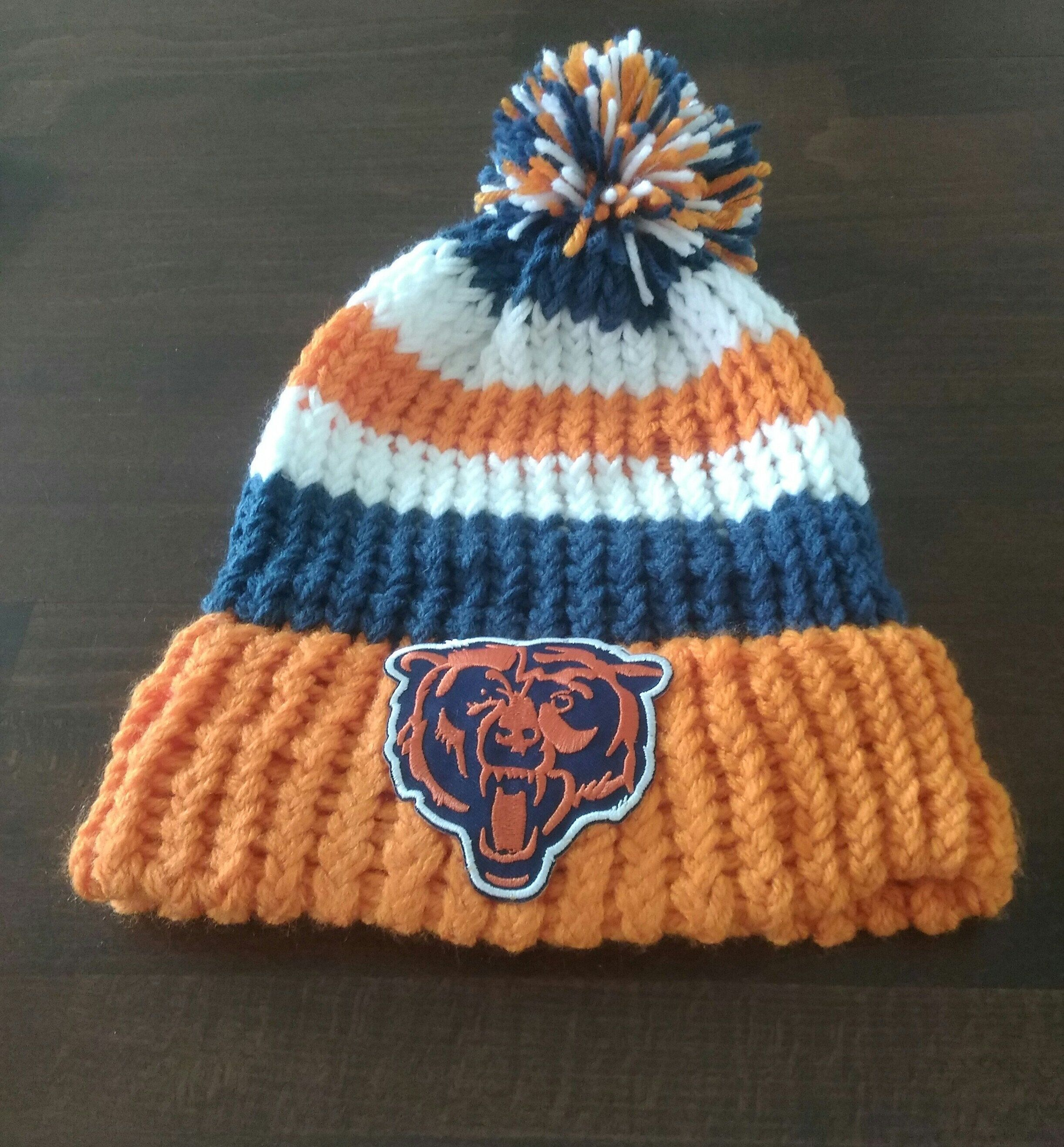 26000d8a Handmade loomed knitted Chicago Bears winter hat by Bestofbettys on ...