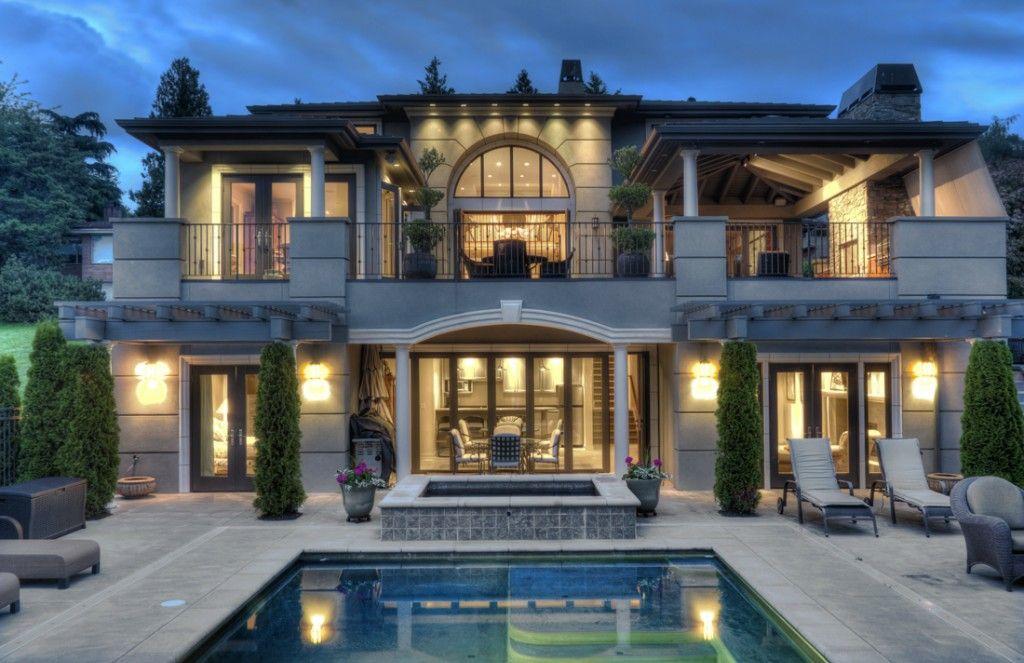 Modern mediterranean home on yarrow point house facades - Modern mediterranean house exterior ...