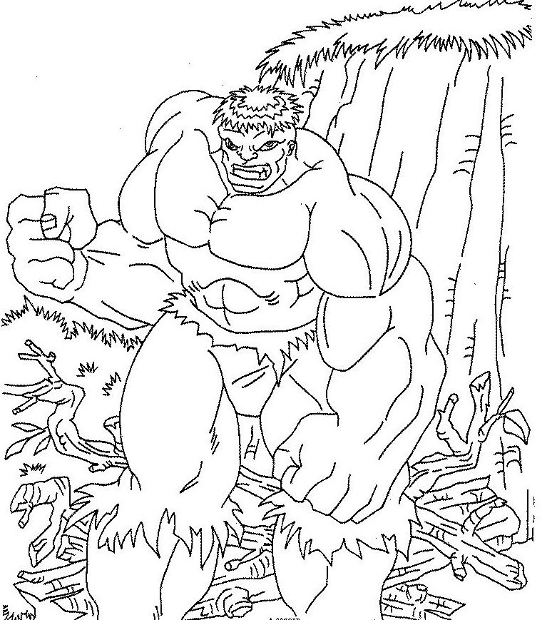 Printables Hulk Coloring Page For Kids | Coloring Pages | Pinterest