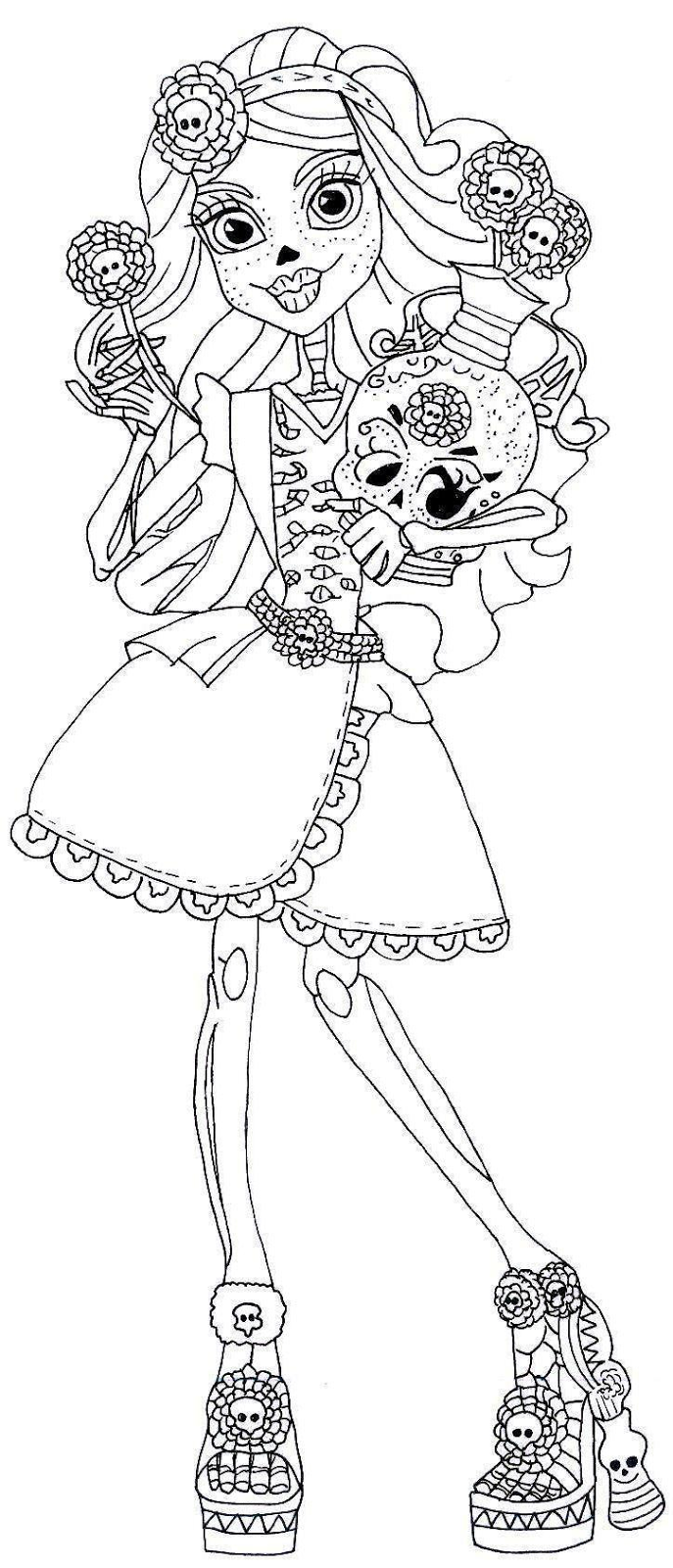 howleen wolf monster high coloring page coloring pages of