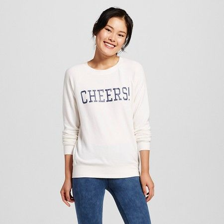 8e94996c601 Brushed Cozy Pullover Sweatshirt Ivory - Grayson Threads (Juniors )   Target
