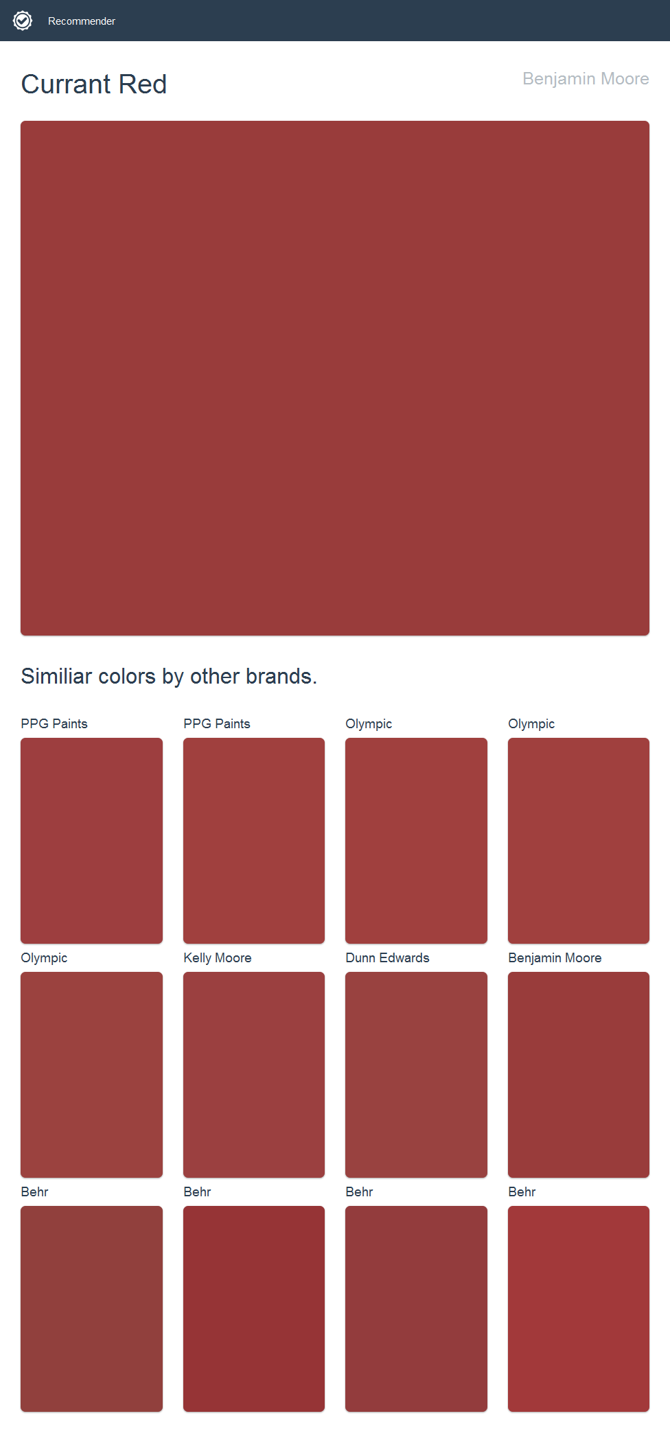Currant Red Benjamin Moore
